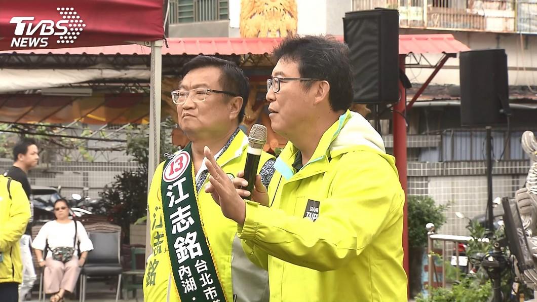 圖/TVBS 快訊/宣示決心! 姚文智造勢場宣布辭去立委