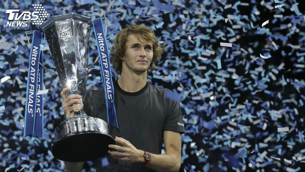 圖/達志影像美聯社 ATP年終賽 德國新秀茲韋列夫爆冷封王