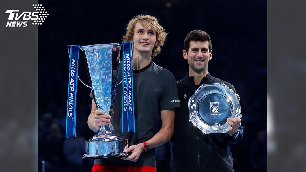 圖/達志影像路透社 ATP年終賽連贏費爸、喬帥 茲韋列夫驚奇奪冠