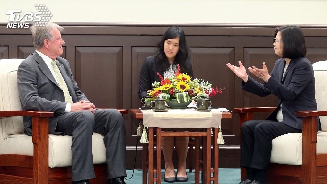 圖/中央社 蔡總統接見美愛達荷州州長 盼雙方交流更緊密