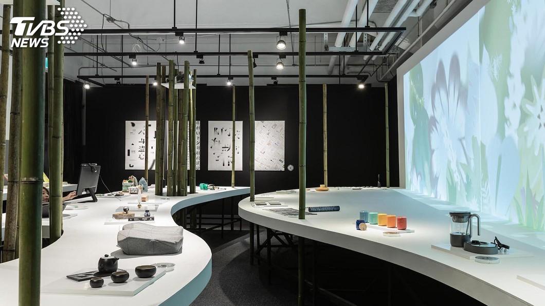 圖/台灣創意設計中心提供 金點設計展 竹子展場打造武林意象