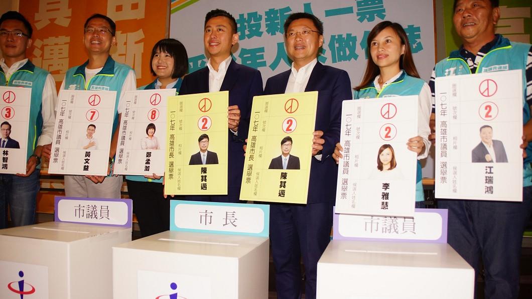 圖/中央社 力挺新人! 林智堅為民進黨「高雄青連線」站台