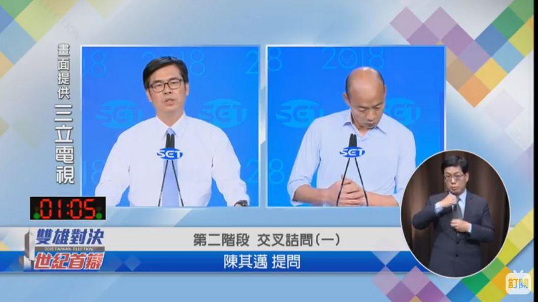 圖/翻攝自YT,三立LIVE新聞頻道 沒關係夠了!韓國瑜論述快狠準 陳其邁時間用到滿