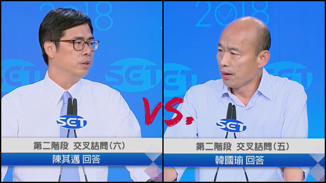 後製圖/翻攝自YT,三立LIVE新聞頻道 雙雄對決辯論會 他曝關鍵差別在「動詞」