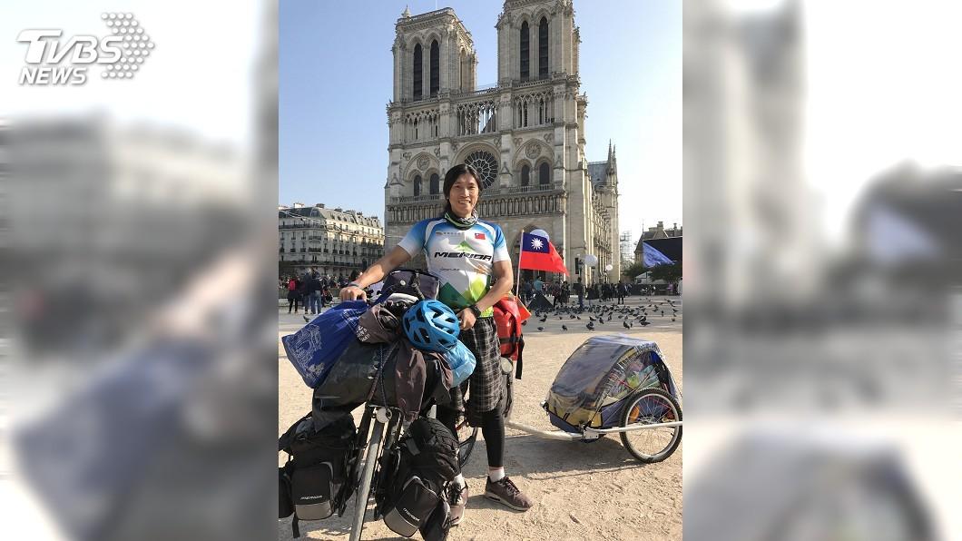 圖/中央社 行路即生活!陳峻永騎單車環球 目標走遍百國