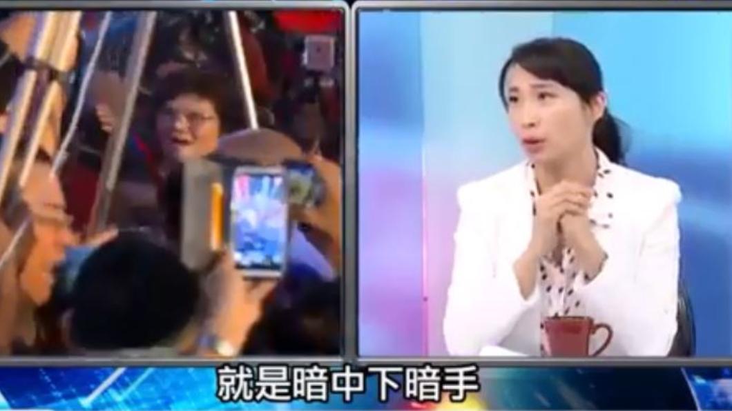 韓國瑜辦公室政策組成員陳怡安在政論節目上說,最近有些人想讓韓國瑜受傷。翻攝/Youtube