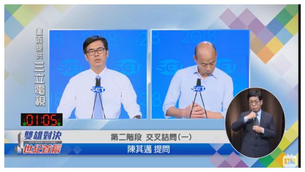 台積電無端中槍!民進黨候選人陳其邁在辯論會以「台積電負債六千多億,難道不是家好公司?」做比喻高雄負債三千億!事後卻被台積電以「搞錯了」直接打臉!  圖/三立電視