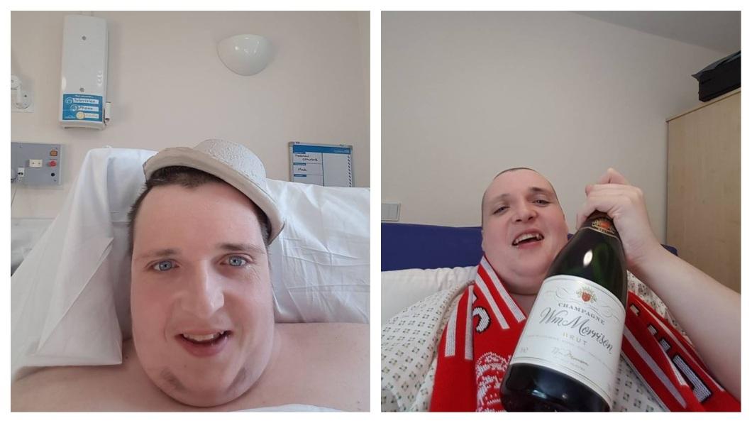 英國一名350公斤重的男子,把醫院當成自己家,還不時在臉書上炫富。(圖/翻攝自臉書) 350公斤男爽佔4病床拒出院 70病患被迫手術延期