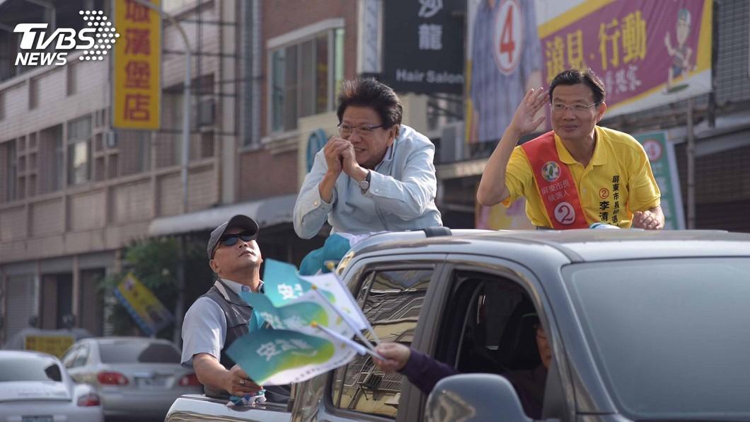 圖/中央社 選前之夜 潘孟安發動萬人屏市嘉年華遊行
