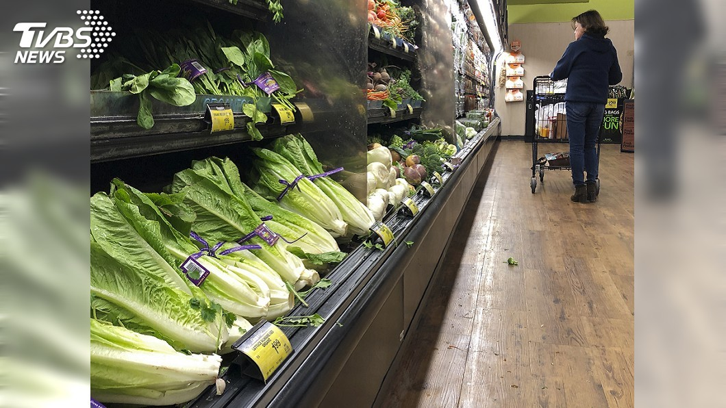 圖/達志影像美聯社 占台灣進口率99% 美蘿蔓生菜疑大腸桿菌汙染