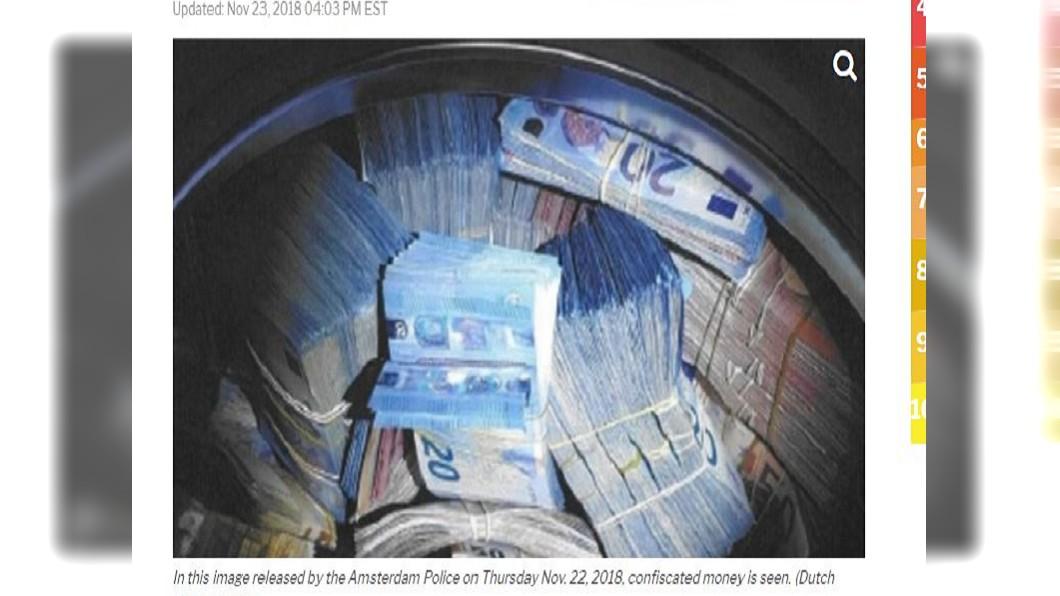 圖/翻攝自WFLA網站 「洗錢」洗到洗衣機中? 警搜出上千萬現鈔
