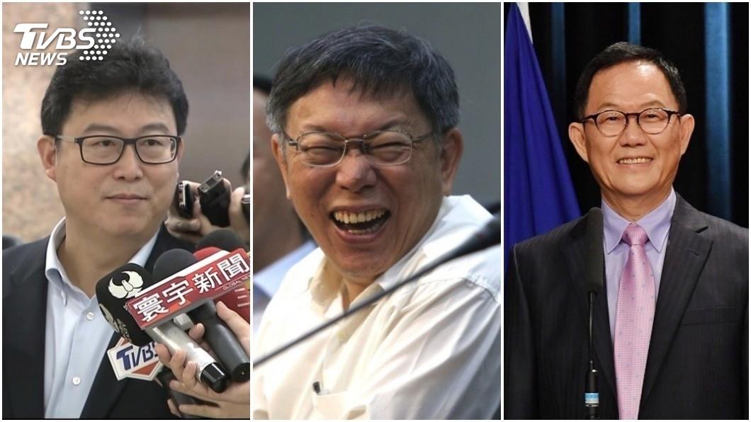 台北市長選情激烈,現任市長柯文哲最後以3254票的差距,險勝國民黨的丁守中。(圖/合成圖,TVBS) 好毛!北市長選舉戰況 他5月就「神預知」