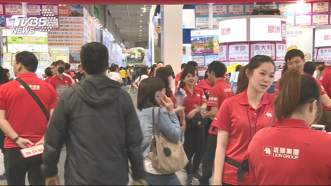 圖/TVBS 投票完來逛旅展 選舉後買氣、人潮回升