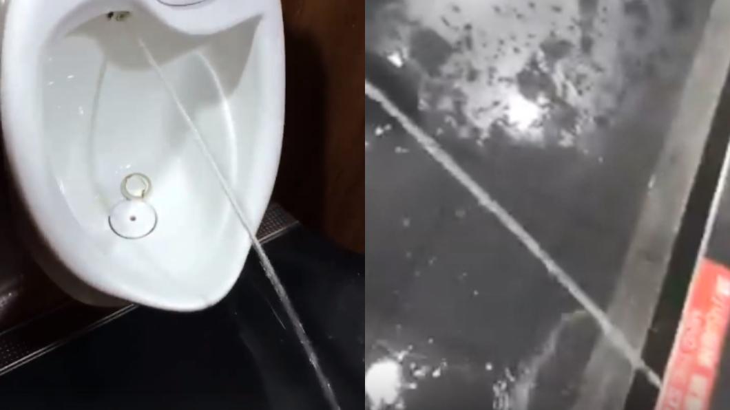 廁所地板因此積水。圖/翻攝自爆廢公社