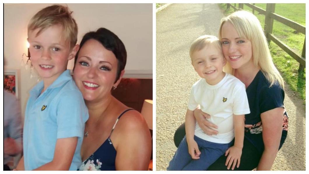 英國一名人母因治療癌症而痛到哭,兒子是她支持下去的動力。(圖/翻攝自臉書) 治療癌症痛到哭…她怕8歲兒擔心 謊稱:感冒而已