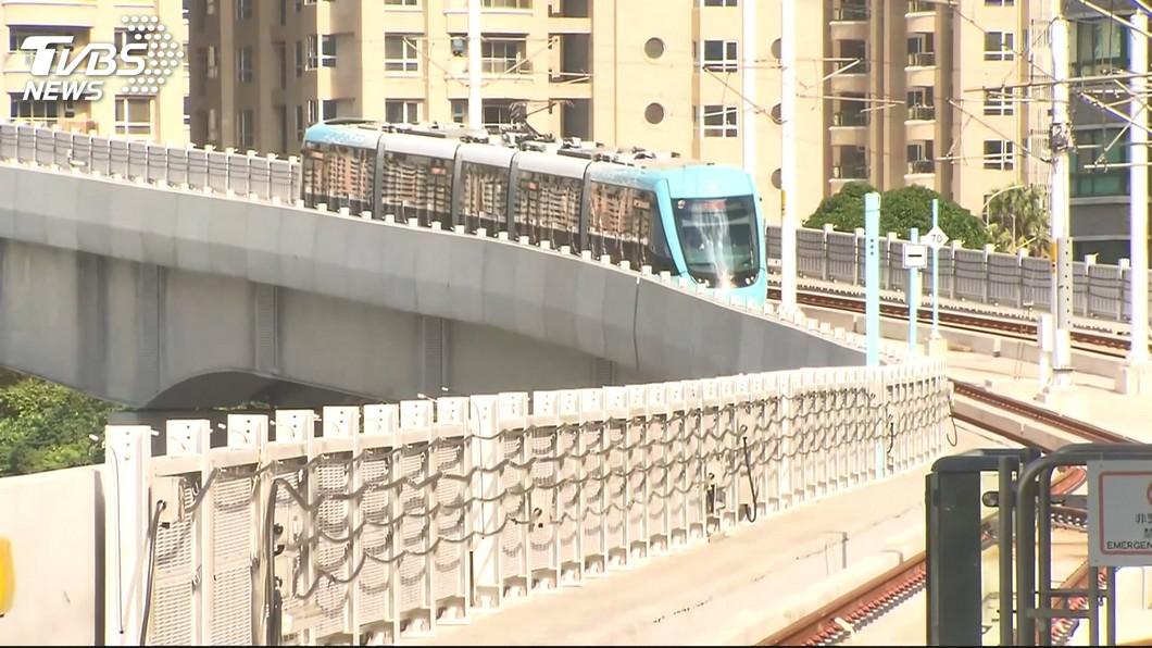 圖/TVBS 淡海輕軌23日通車 每15分鐘一班車