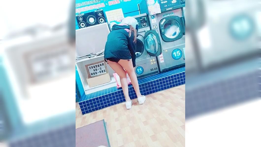 有男網友在自助洗衣店看到這一幕,嚇得不知道該怎麼辦?(圖/翻攝自爆廢公社二館) 當場脫短褲丟洗衣機…妹子只穿內褲坐旁邊 他問怎麼辦?
