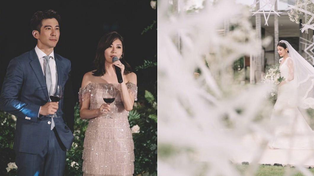 圖/翻攝自 賈靜雯 微博 隱藏版婚禮照高清曝光 賈靜雯:我們是彼此的太陽月亮
