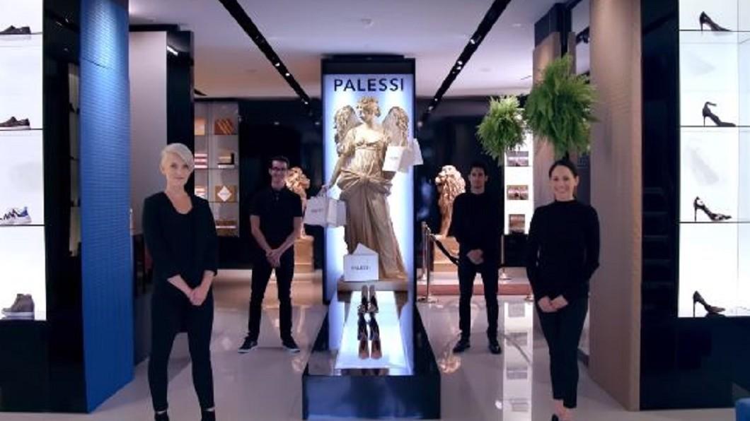 「Payless」將店面偽裝成高級精品店「Palessi」。圖/翻攝自YouTube「Payless」 潮流人士?平價鞋店偽裝高級精品 騙倒一堆時尚迷