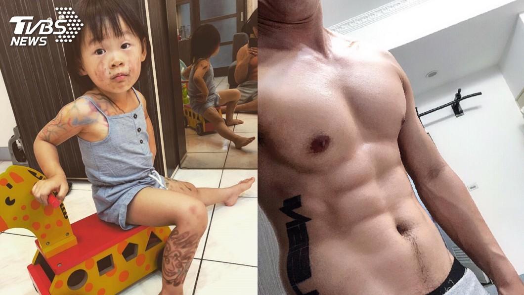 圖/Chuck Lin 授權提供 女兒刺青好霸氣 鏡中亮點更吸睛:哇!身材好好