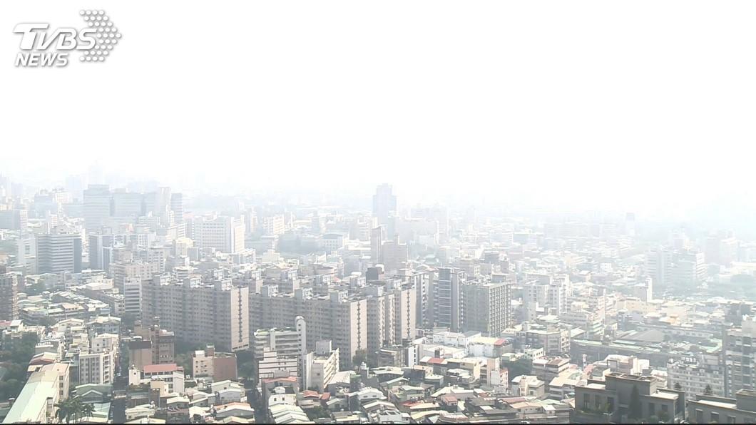 圖/TVBS 境外污染物影響 30日中部以南空氣品質恐亮橘燈