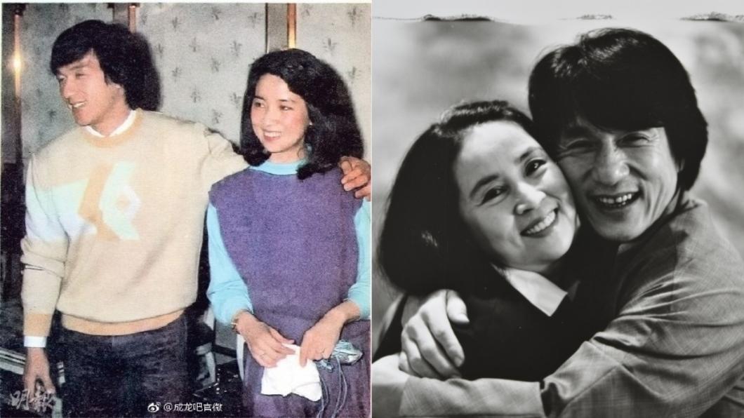 成龍與妻子林鳳嬌。圖/翻攝自《微博》