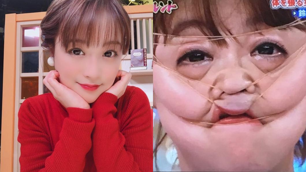 圖/翻攝自網路、鈴木奈奈IG 女星挑戰「臉纏28條橡皮筋」 驚悚畫面讓網友氣炸