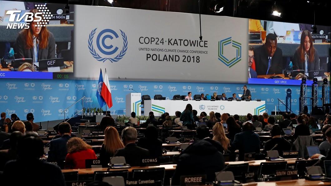 圖/達志影像路透社 近200國代表齊聚波蘭 氣候峰會兵荒馬亂中登場