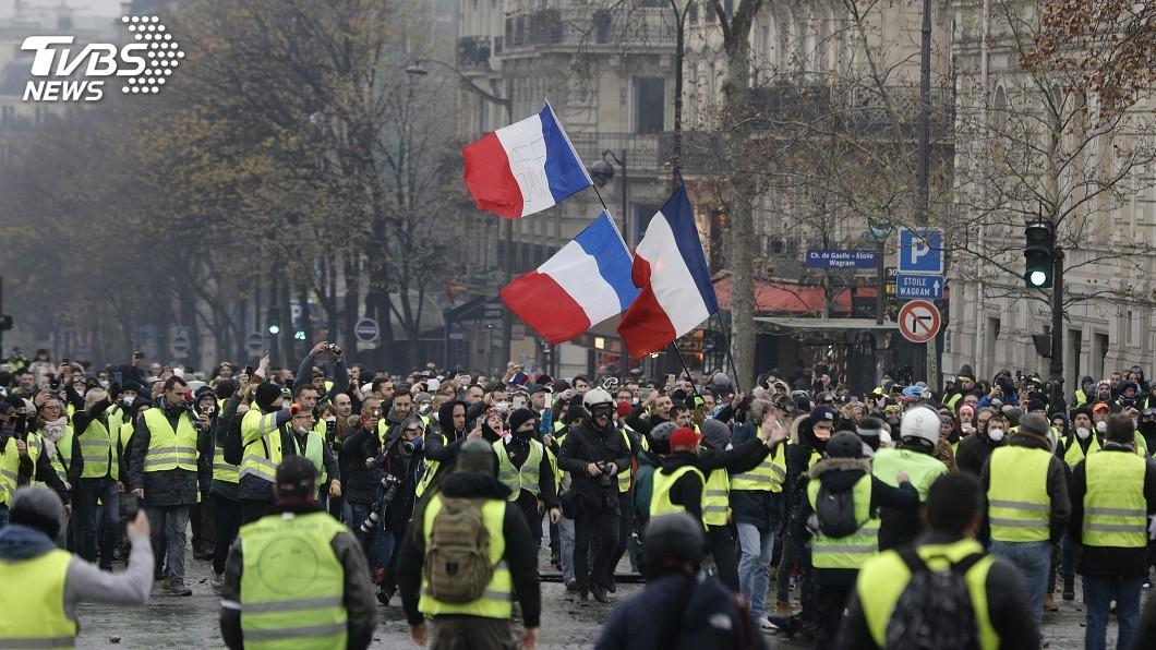 圖/達志影像美聯社 法國「黃背心」運動走調 重點快速了解