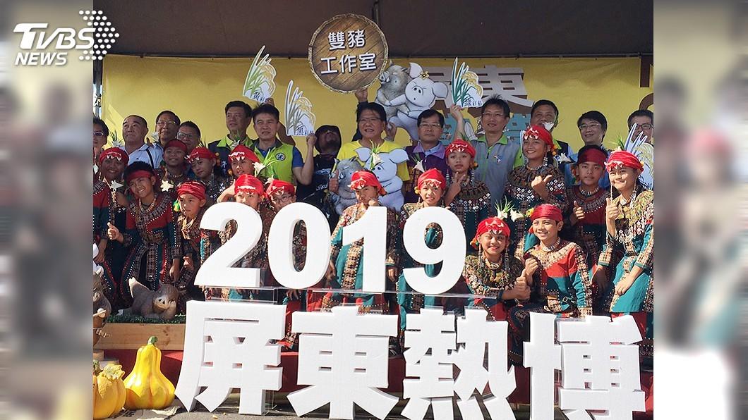 圖/中央社 明年屏東熱博彩稻 雙豬點燈迎台灣燈會