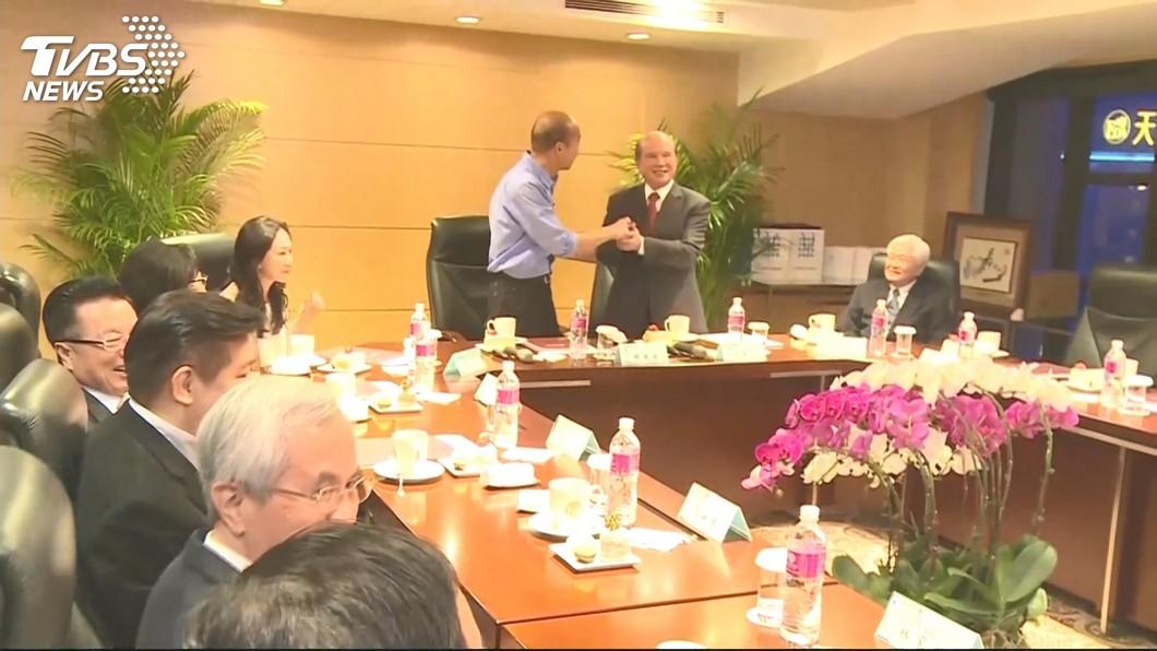 準高雄市長韓國瑜會晤義联集團創辦人林義守。圖/TVBS