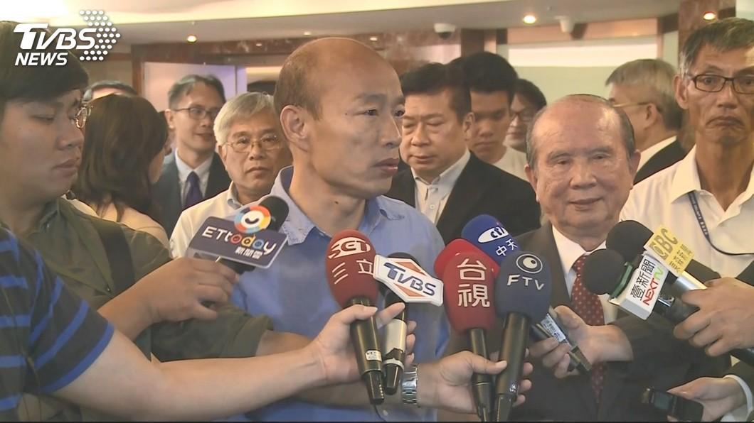 林義守昨日與韓國瑜會面。圖/TVBS