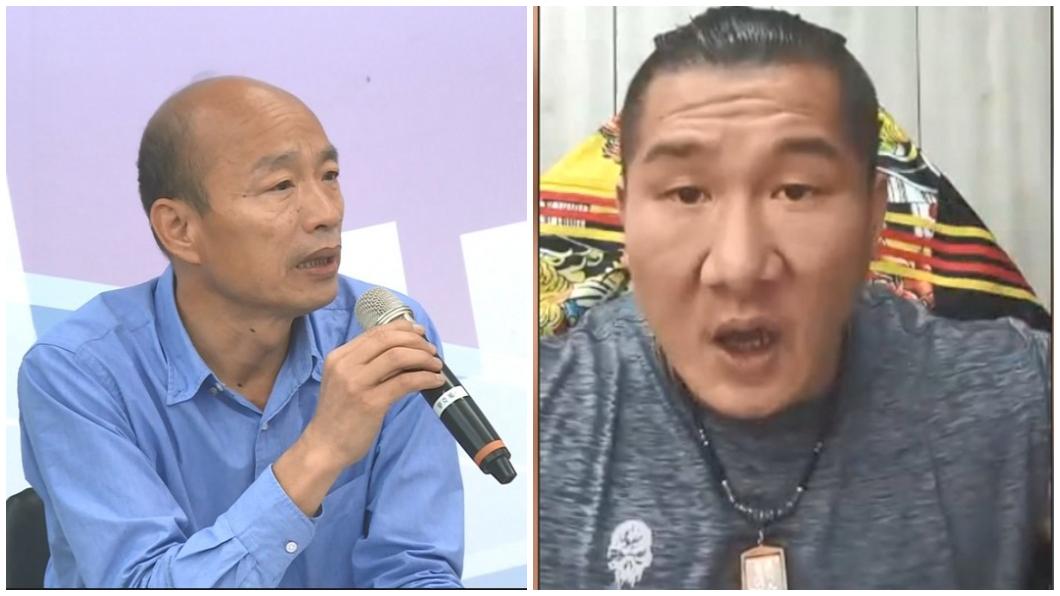 圖/TVBS資料畫面、翻攝館長臉書 館長飆罵切割「韓國瑜以後與我無關」 韓營給8字回應