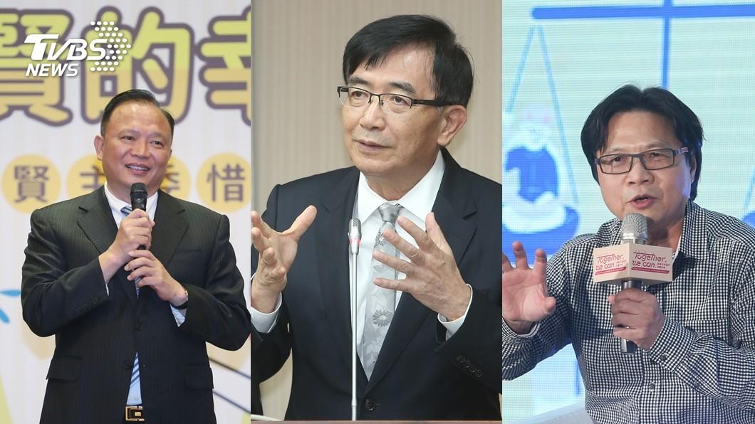 左起為農委會主委林聰賢、交通部長吳宏謀、教育部長葉俊。合成圖/中央社 TVBS民調/九合一選後 內閣適任度大調查