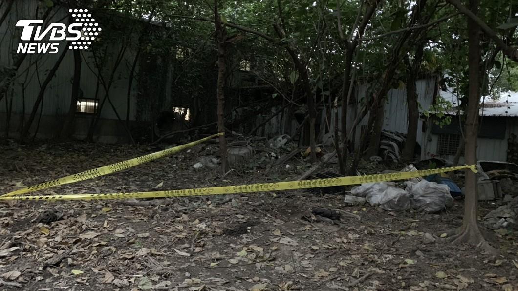 圖/TVBS 地主整地驚見白骨頭顱 死者疑失蹤2年烤漆廠工