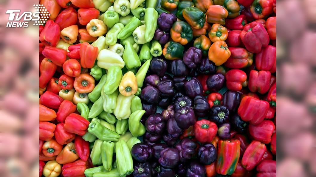 彩色甜椒示意圖/TVBS 「甜椒」農藥超標吃800公克就過量 毒物專家這樣說