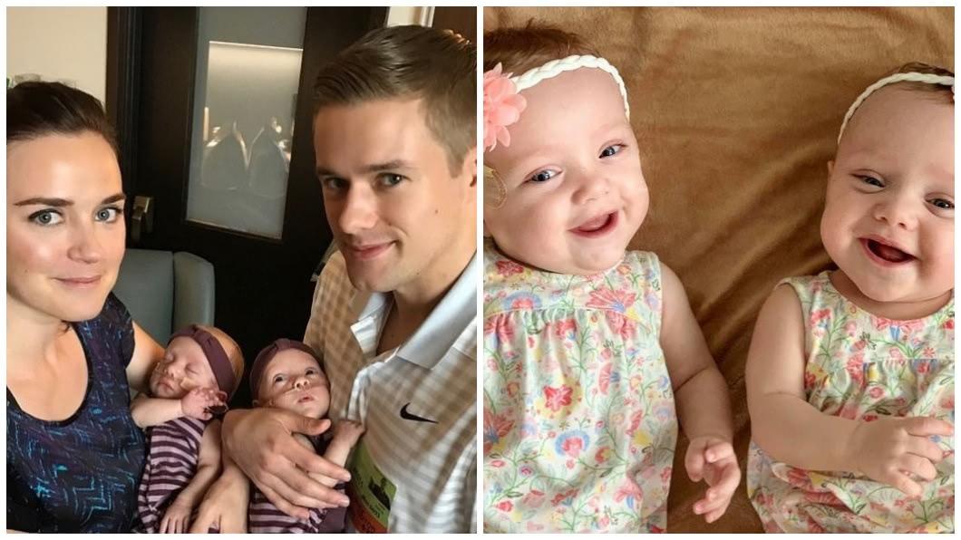 女嬰還有個雙胞胎妹妹,2人都是早產兒都罹患疾病。(圖/合成圖,翻攝自臉書)