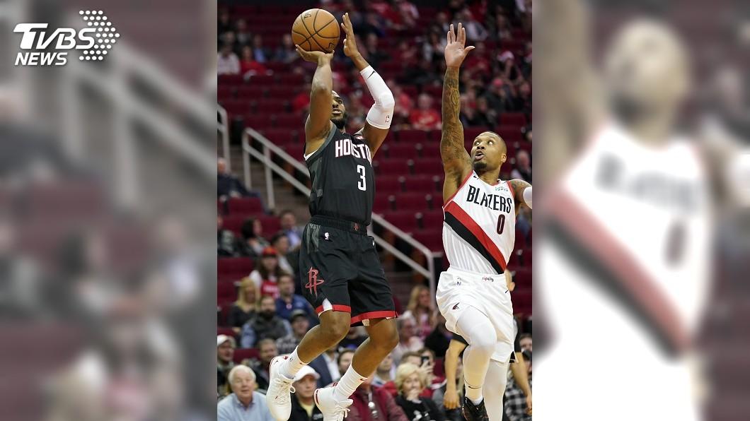 圖/達志影像美聯社 保羅NBA本季首度大三元 助火箭終止3連敗