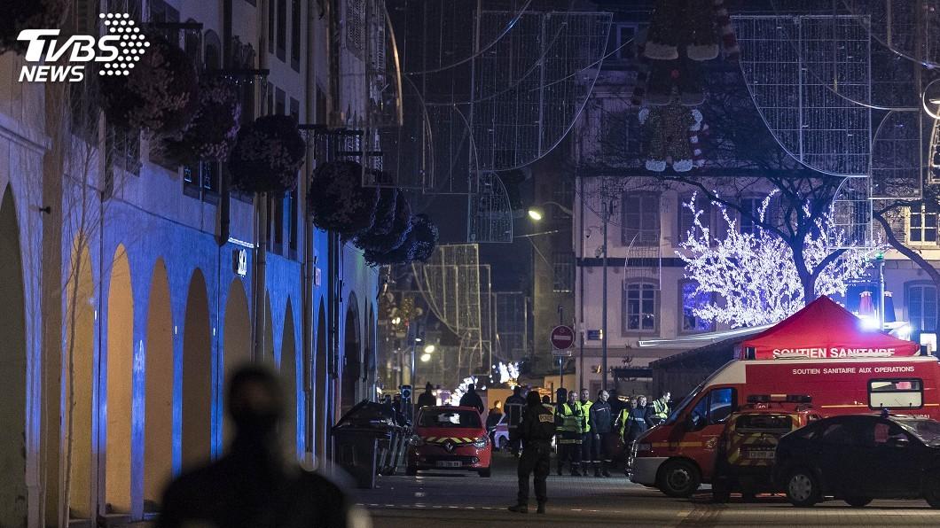 圖/達志影像美聯社 法國史特拉斯堡槍擊4死10多傷 凶嫌仍在逃