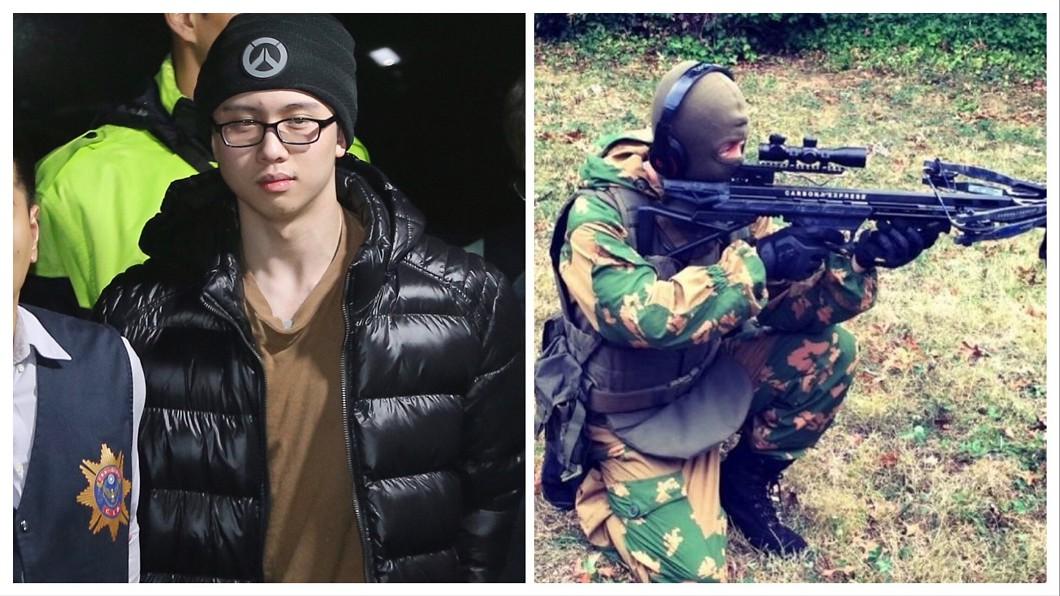 圖/翻攝孫安佐臉書、TVBS 沒記取教訓?孫安佐返台曬「手持十字弓射擊照」