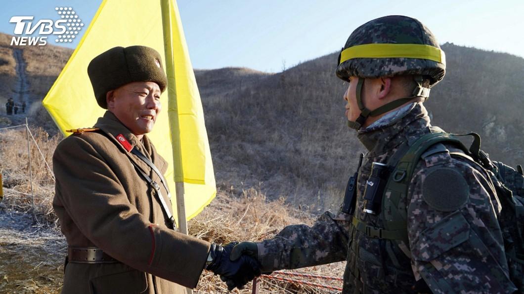 圖/達志影像美聯社 兩韓拆前線崗哨 確定無地下密道