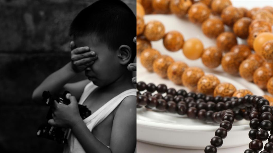 示意圖,與本文無關。圖/TVBS 餓到吃「串珠」果腹… 男童被虐滿身菸疤、肋骨突出