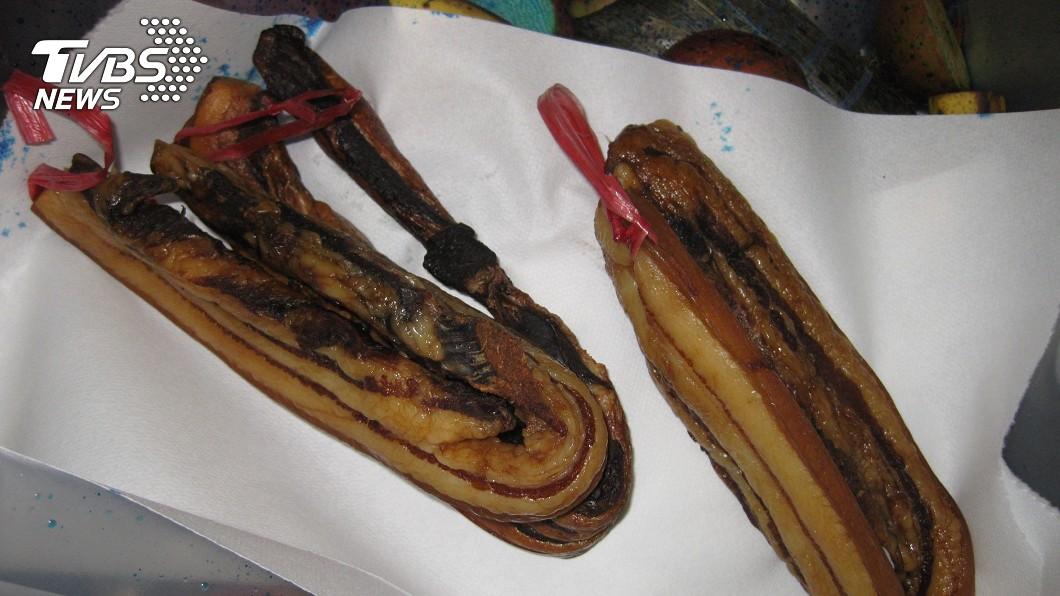 旅客違規攜帶肉品。防檢局提供