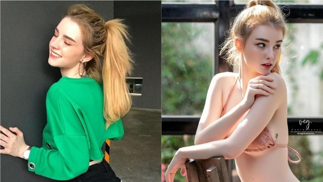 圖/翻攝自Jessie Vard Instagram 19歲混血嫩模認隆乳 「胸前紗布滲血」畫面怵目
