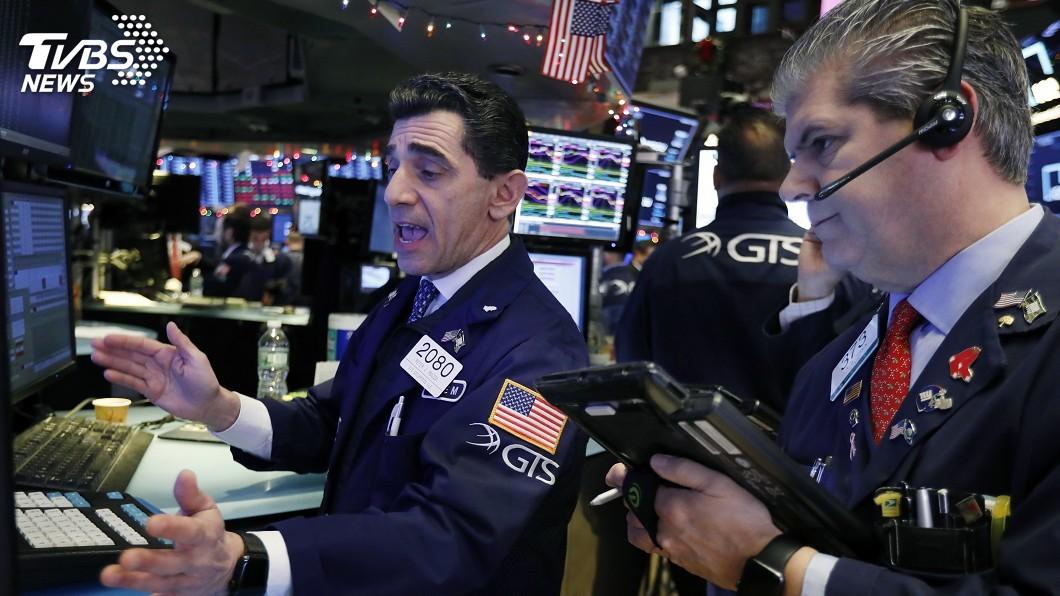 圖/中央社 美股下挫 台股面臨前低9626點保衛戰