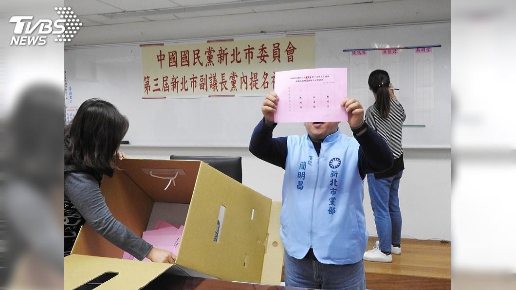 圖/中央社 新北正副議長選舉 國民黨蔣根煌、陳鴻源搭檔