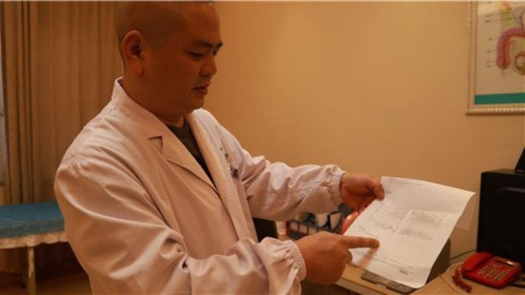 男子的症狀連主治醫生都嚇一跳。圖/翻攝自瀟湘晨報