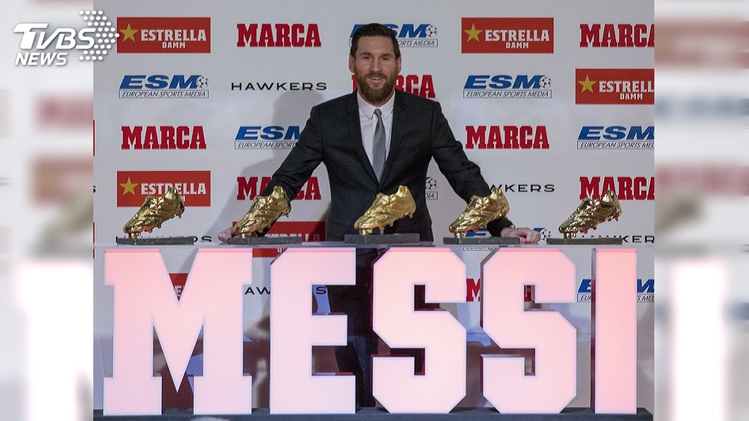 圖/達志影像美聯社 梅西5度獲歐洲金靴 超越C羅成史上最多