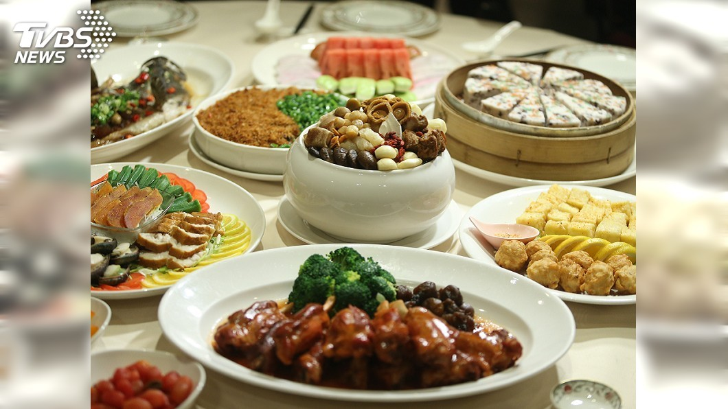 圓山飯店晚宴菜色。圖/中央社