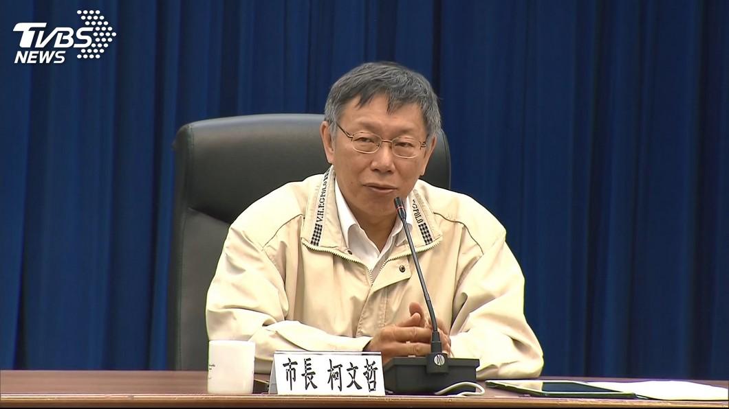 台北市長柯文哲日前和總統蔡英文碰面時,曾提出大巨蛋爭議希望中央幫忙。(圖/TVBS)